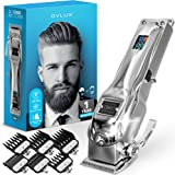 OVLUX Hair Clippers for Men - Professional Cordless Rechargeable Clippers for Hair Cutting, Full Metal Beard Trimmer, Barbers