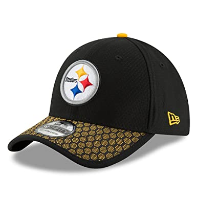 New Era Men s Pittsburgh Steelers 2017 Official NFL Sideline 3930 Cap Black  Yellow Size Small 97e2909f18b