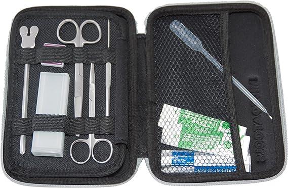 Estuche de disección, 12 instrumentos profesionales en acero inoxidable para estudiantes de Biología, Veterinaria, Medicina, Farmacia, Cirugía dental: Amazon.es: Oficina y papelería