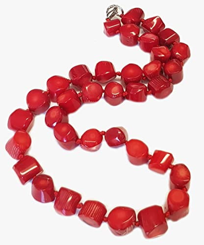 TreasureBay Beautiful Chunky Red Coral Necklace 19