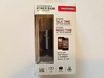Amazon.com: Pro Charge Power Bank con llavero Negro: Electronics
