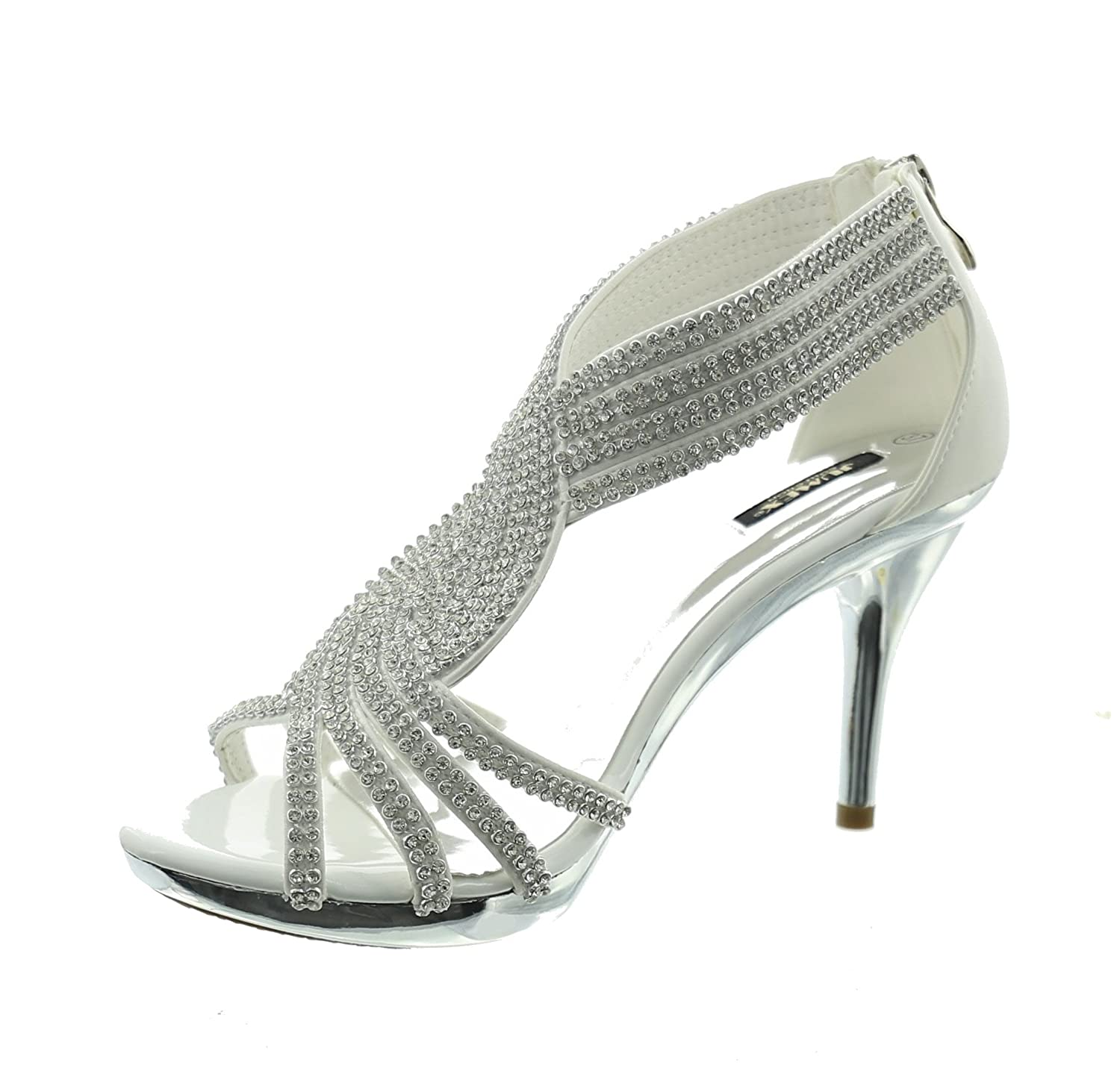 2ef137a46a43f1 Jumex Women s Fashion Sandals white Weiß  Amazon.co.uk  Shoes   Bags