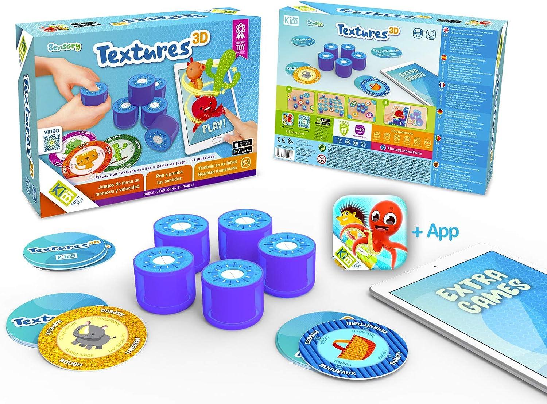 kibi Textures 3D - Juegos de Mesa rápidos y Divertidos con Texturas y Cartas. App educativa y Juegos 3D: Amazon.es: Juguetes y juegos