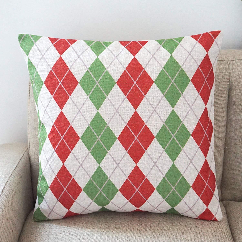 Color/é Coussin G/éom/étrique Coton Et Lin D/écoration de La Maison Coussin Taie Doreiller Canap/é 18 X 18 Pouce Pop Art S/érie 6 Packs
