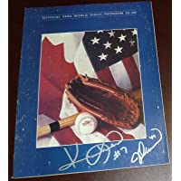 Jesse Orosco & Kevin Mitchell Signed Mets 1986 World Series Game Program Auto'd - Autographed MLB Magazines photo