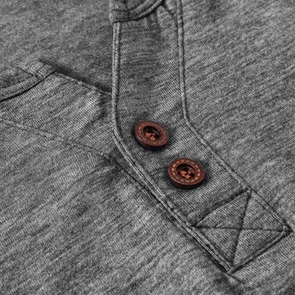 WINJUD Mens T-Shirt Long Sleeve Crewneck Henley Shirt Slim Fit Button Fall Winter Casual Tops