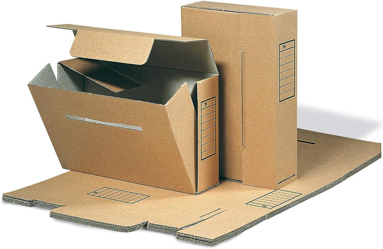 Jalema 7103500 - Caja archivadora DIN Folio (50 unidades), color marrón: Amazon.es: Oficina y papelería