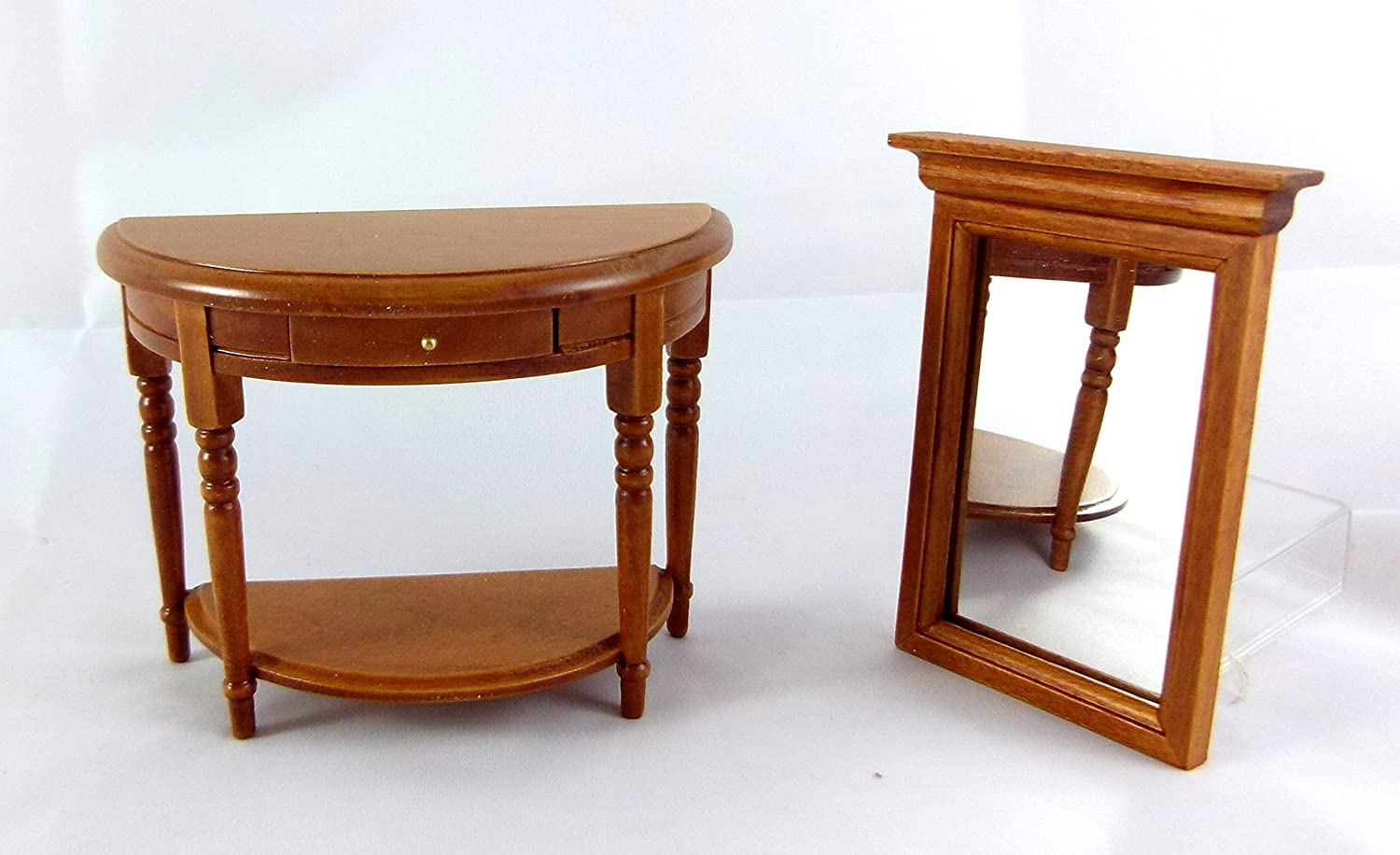 Dollhouse Miniature Marble Top Hall Table and Mirror Aztec Imports Inc NA