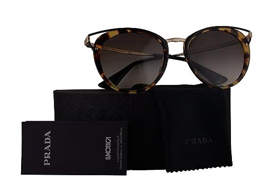 05dbe24f3c0a Prada PR66TS Sunglasses Medium Havana w/Grey Gradient 54mm Lens 7S00A7  SPR66T PR 66TS SPR 66T: Amazon.co.uk: Clothing