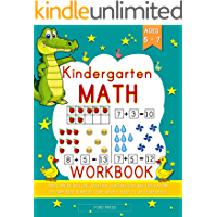 Kindergarten Math Workbook: Kindergarten and 1st Grade Workbook Age 5 - 7 | Early Reading and Writing, Numbers 0-20, Addition and Subtraction  Activities ... Activity Books (Book 1)) (English Edition)