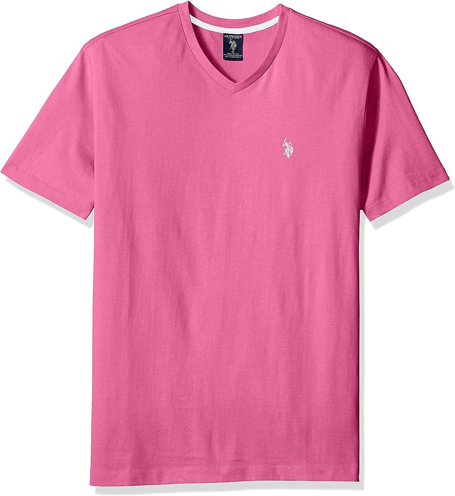 U.S. Polo Assn. Mens V-Neck T-Shirt, shelter Island Pink, M ...