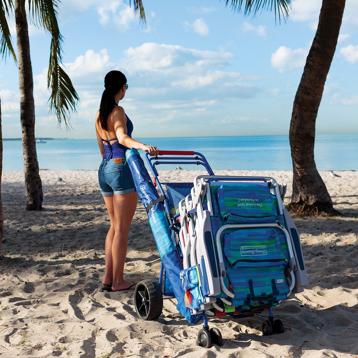 TOMMY BAHAMA carro todoterreno para la playa con nevera ...