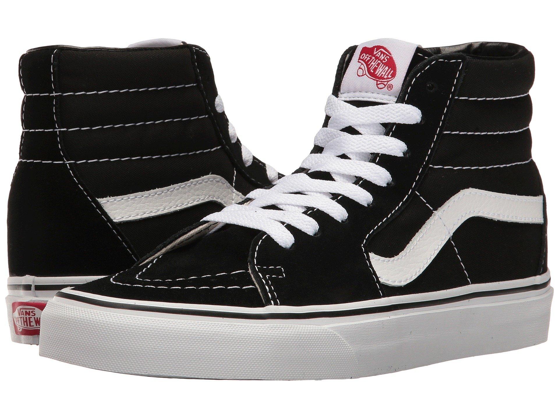 e0457488ae0 Galleon - Vans Unisex Sk8-Hi Canvas High Top Shoes (8 Men s 9.5 Women s