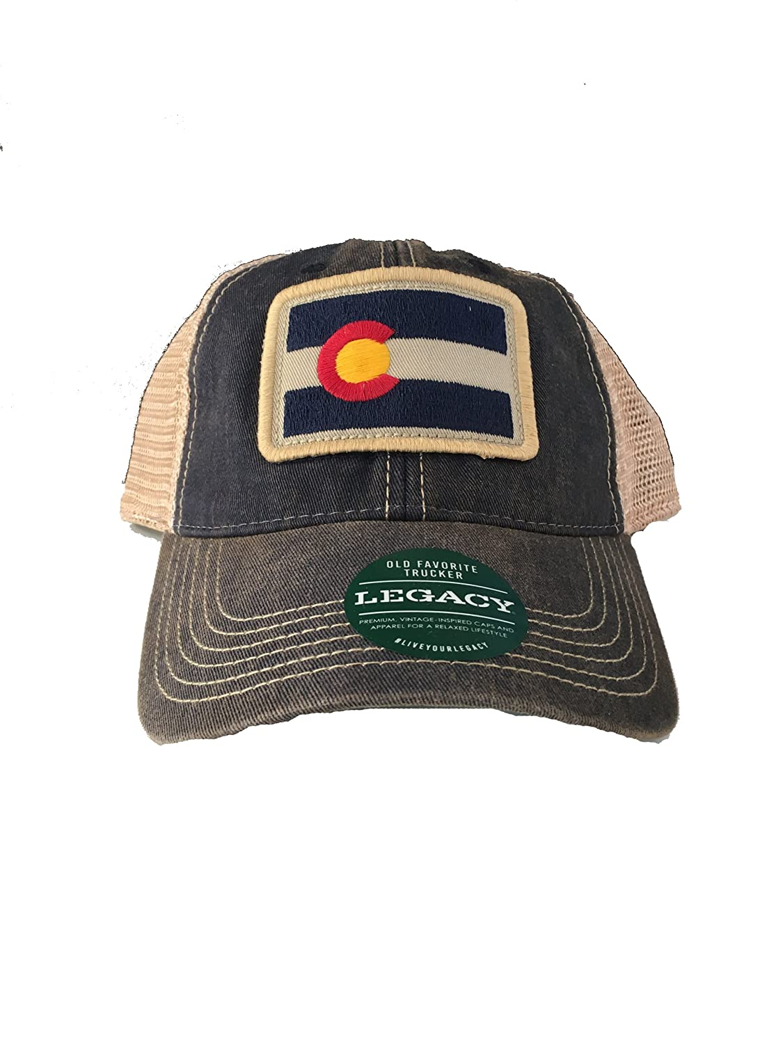 Legacy athletic rectangle colorado flag patch trucker cap at amazon mens  clothing store jpg 1125x1500 Legacy 9dbfd6f9d775