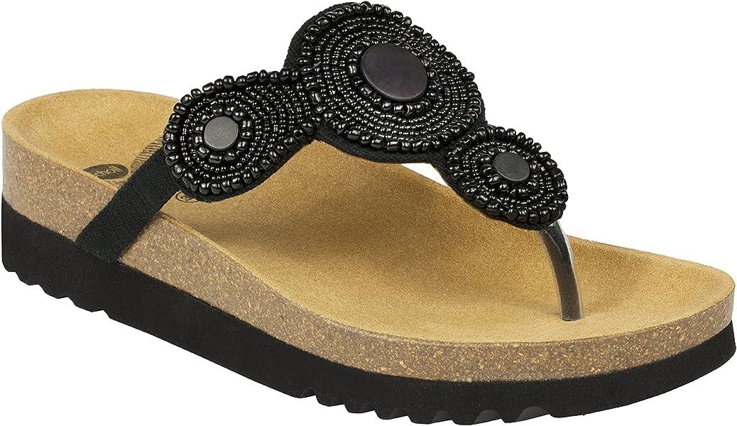 ada1ec3a3f97 DR SCHOLL Women s Thong Sandals Black Size  2.5  Amazon.co.uk  Shoes   Bags