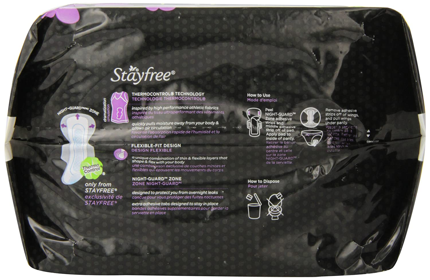 Amazon.com: Stayfree Ultra Thin Overnight Pads with Wings Jumbo Pack - 40 CT: Health & Personal Care