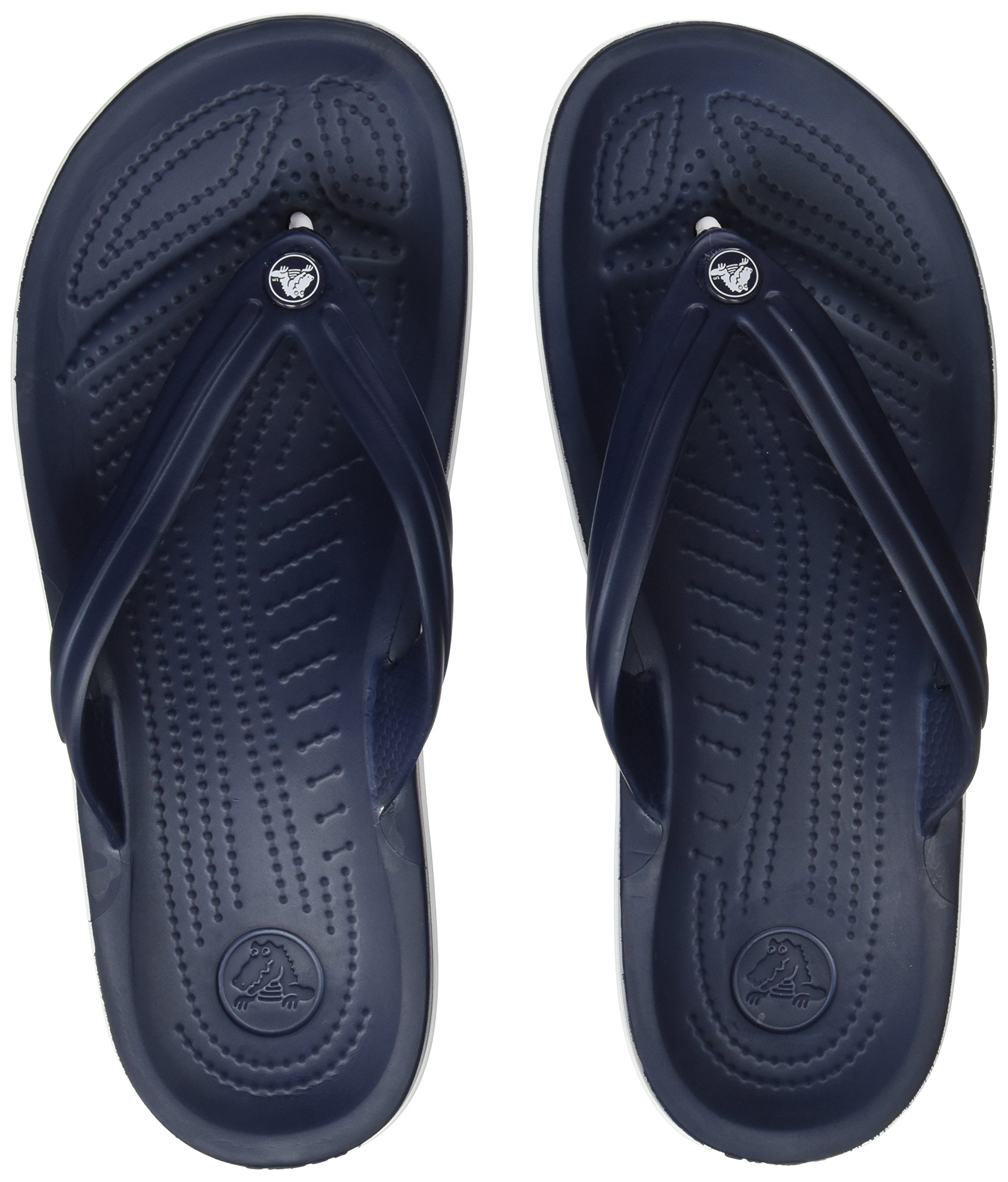 Crocs Unisex Crocband Flip-Flop, Navy, 9 US Men / 11 US Women