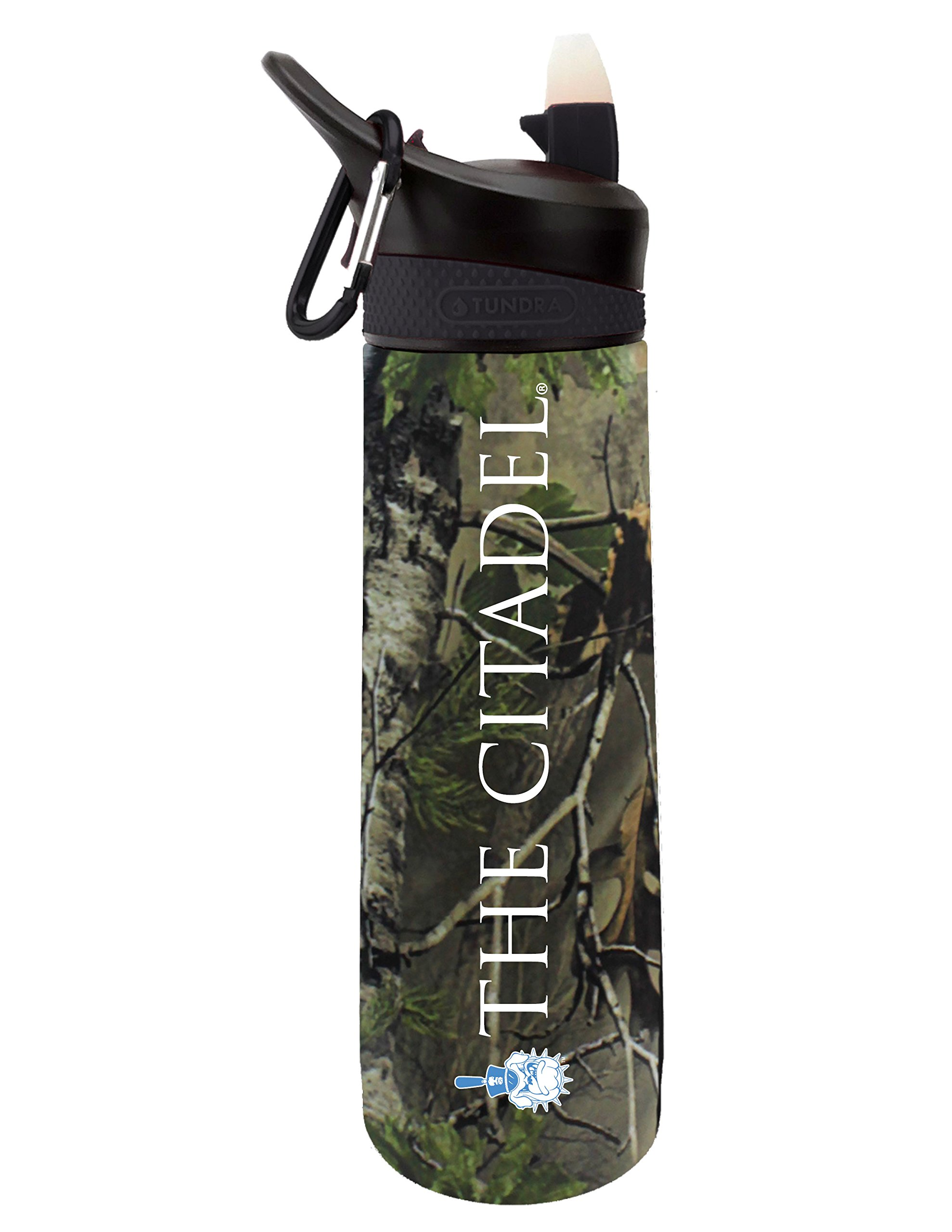 The Citadel Bulldog Dual Walled Stainless Steel Sports Bottle, Design 1 - Oak