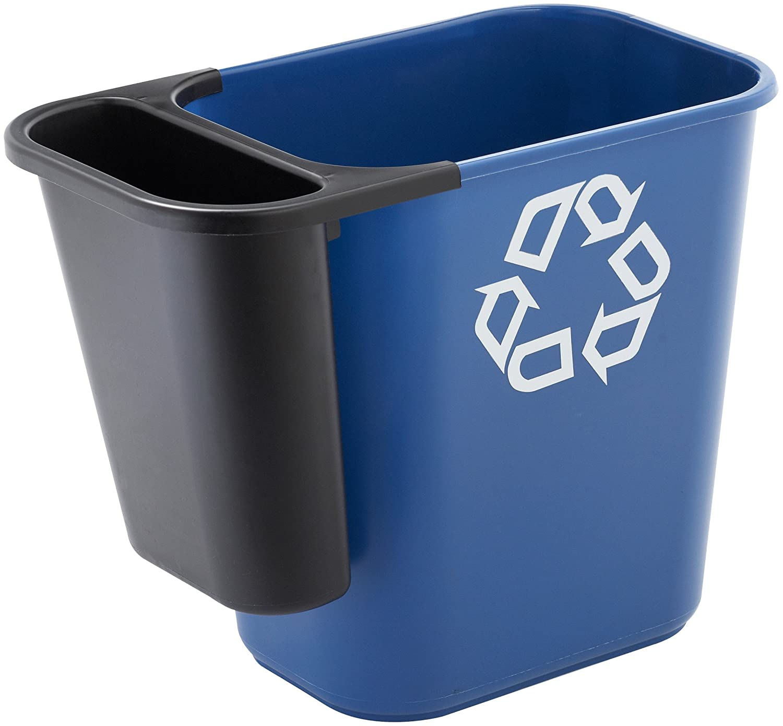 Rubbermaid Commercial 295073BLA Saddle Basket Recycling Bin ...