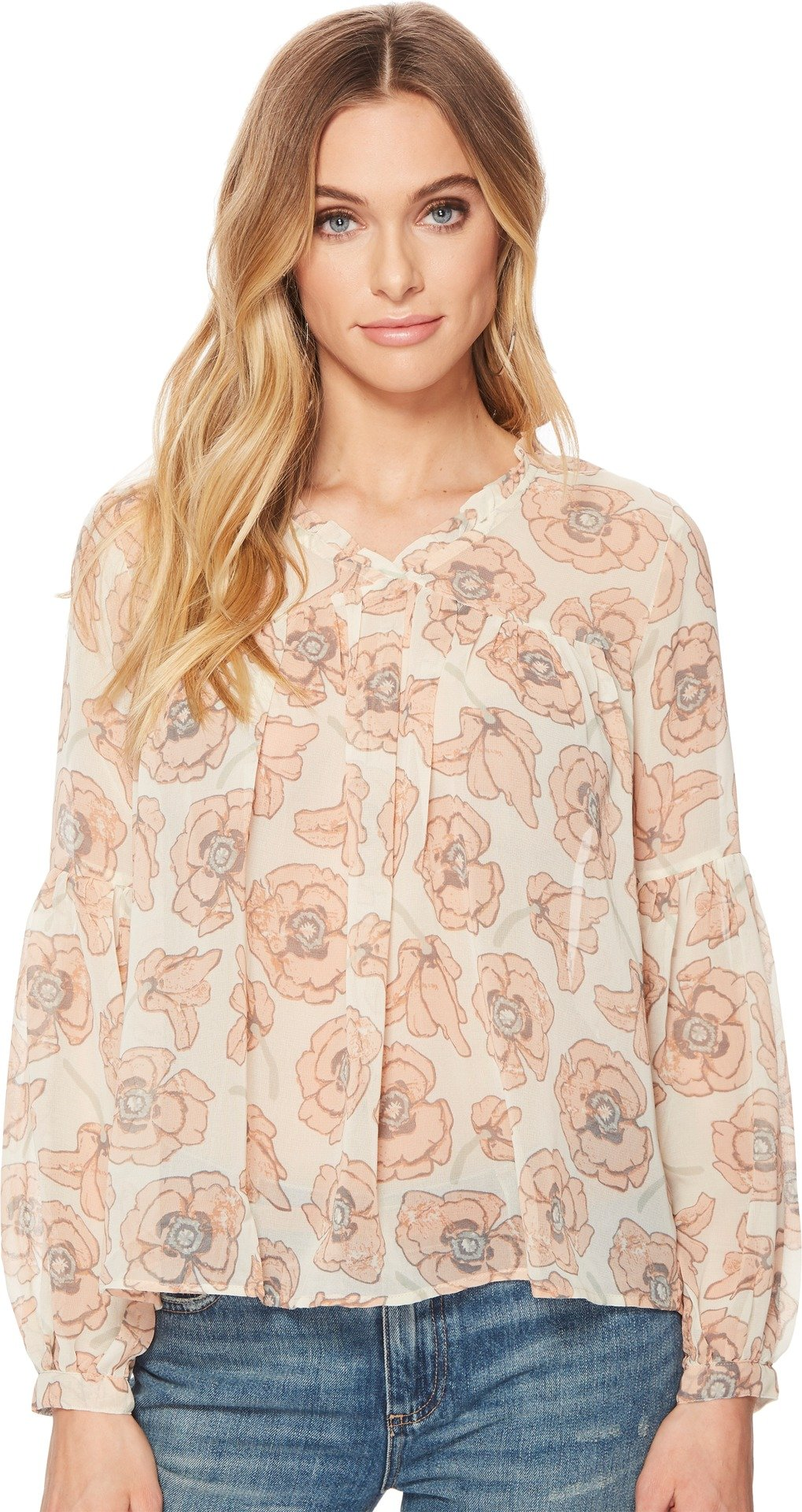 Lucky Brand Women's Pink Exploded Floral Top, Pink/Multi, S