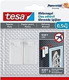 tesa® Klebenagel für Tapeten und Putz (0,5 kg / 3er Pack = 6 Nägel)