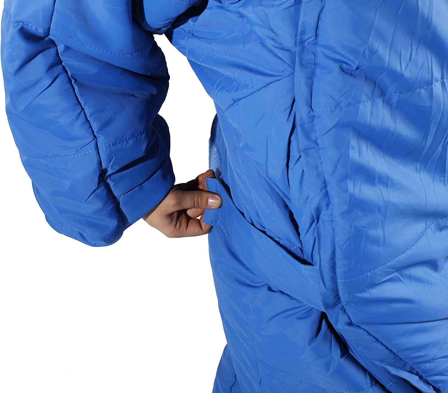 Selkbag Unisexs Original Wearable Sleeping Bag with Arms and Legs Black Anthracite Large