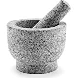 CO-Z Granite Mortar and Pestle Set for Guacamole Spice Herbs Salads, 6 Inch - 2 Cup Capacity - Large Heavy Duty…