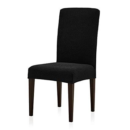 Subrtex Jacquard Dining Room Chair Slipcovers Sets Stretch Furniture Protector Covers Removable Washable