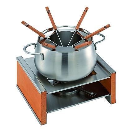 KUHN RIKON 32192 - Set de fondue (madera, protección contra salpicaduras, para 6