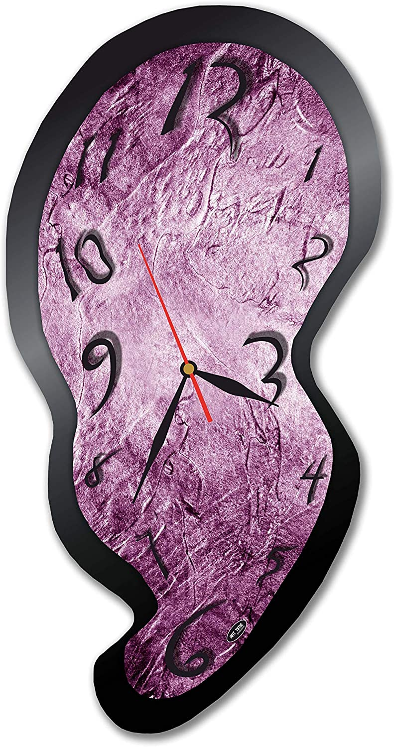 "dudkaair Salvador Dalí 18'' x 11"" Handmade Wall Clock - Get Unique décor for Home or Office – Best Gift Ideas for Kids, Friends, Parents and Your Soul Mates"