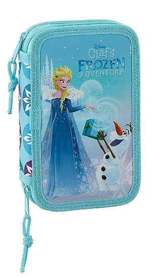 Disney SAFTA Estuche Frozen Oficial Escolar Incluye 28 Útiles 125x40x195 mm: Amazon.es: Ropa y accesorios