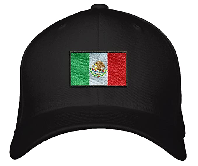 53cdcca489b Mexico Flag Hat Snapback Style (Black) at Amazon Men s Clothing store
