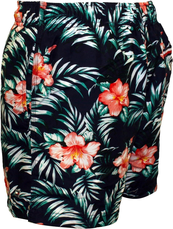 Tommy Hilfiger Floral Print Mens Swim Shorts Navy//Multi