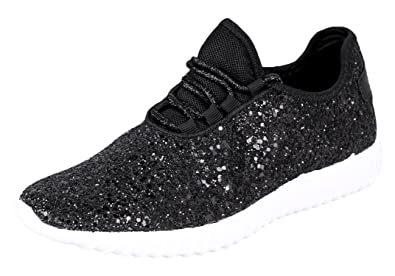 3310d31dc069 Forever Link Women s Remy-18 Glitter Sneakers