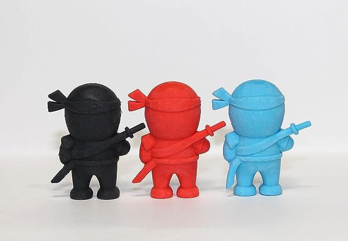 Amazon.com : Lucore 2 Inch Ninja Puzzle Erasers - 3 pcs Kids ...