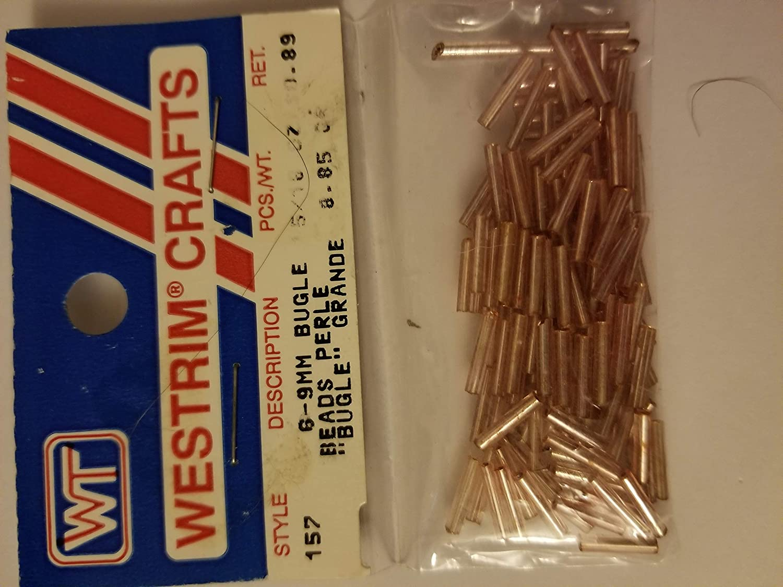 Westrim Medium Bugle Beads Pink wt