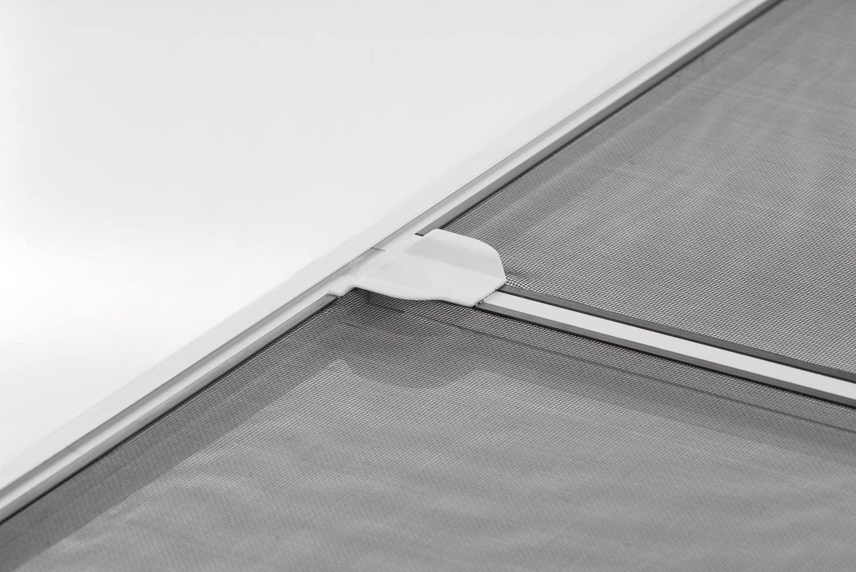 Insektenschutz Fliegengitter T/ür Alurahmen START auf Ma/ß geschnitten oder als Selbstbausatz in wei/ß braun oder anthrazit 100 x 210 cm