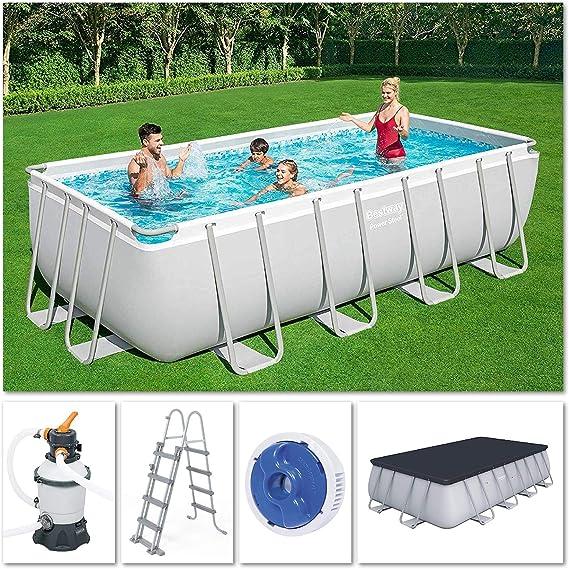 BESTWAY 56566 - Piscina Desmontable de Acero Hydrium 300x120 cm Depuradora de arena de 2.006 litros/hora: Amazon.es: Jardín