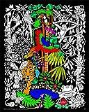 Rainforest - 16x20 Fuzzy Velvet Detailed Coloring
