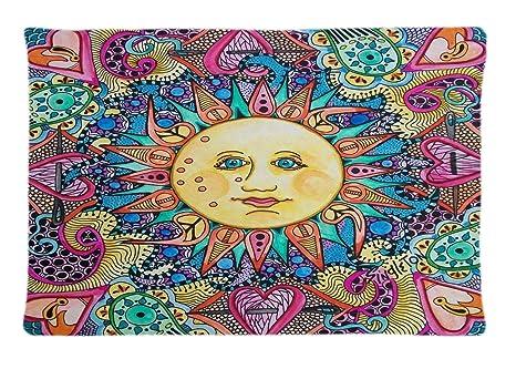 Amazon.com: Tie Dye Hippy Hippie Custom funda de almohada ...