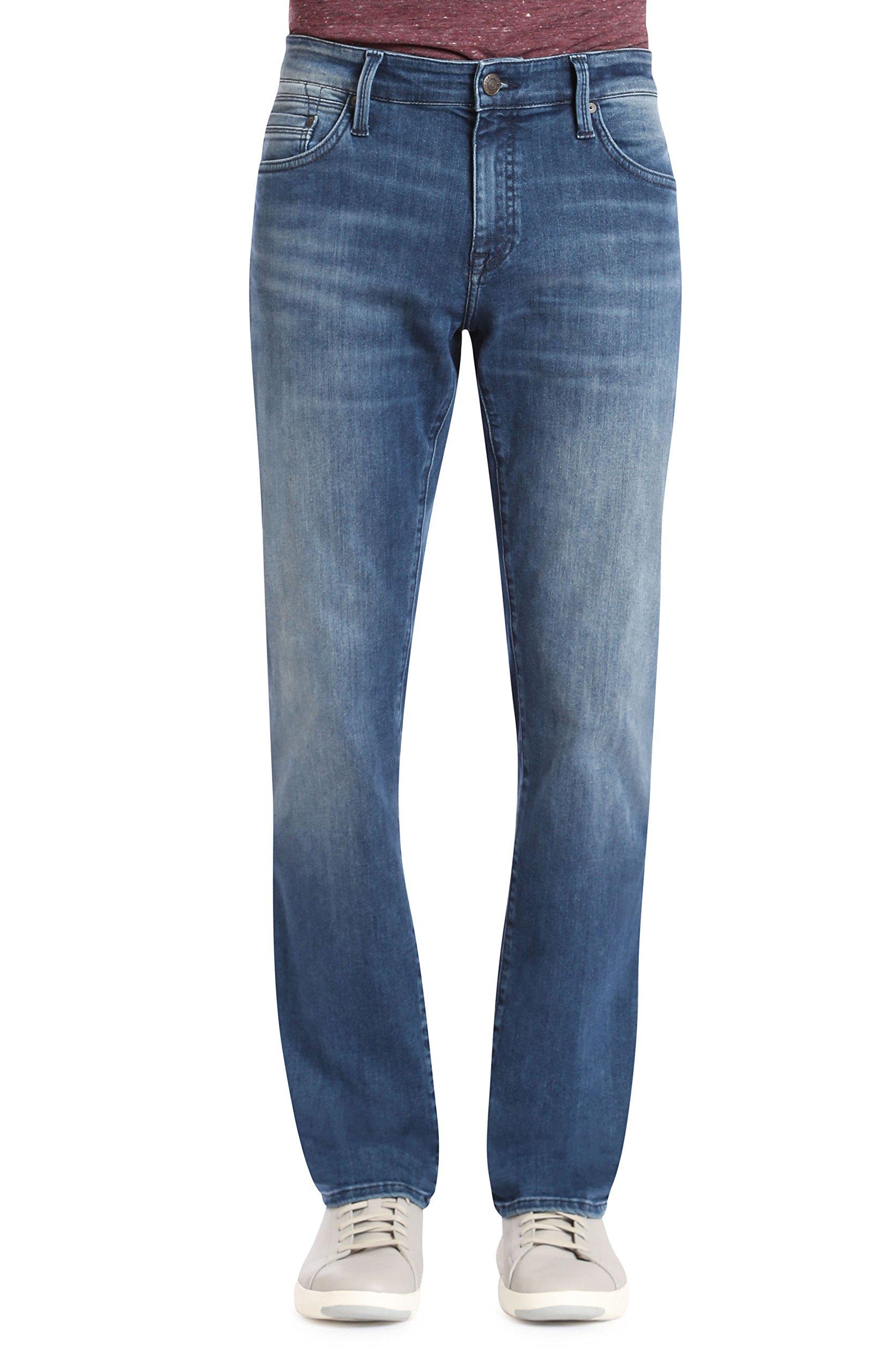 Mavi Men's Jake Regular-Rise Tapered Slim Fit Jeans, Mid Tonal Williamsburg, 32W x 32L