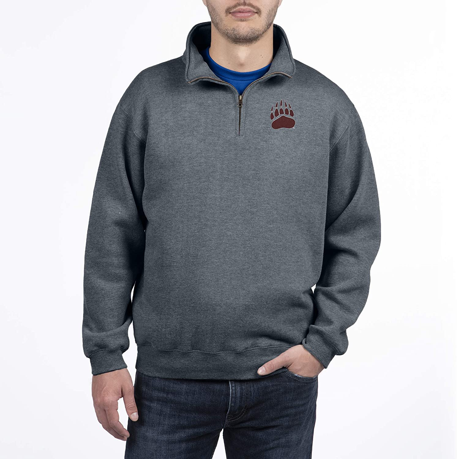 Top of the World NCAA Mens Dark Heather Classic Quarter Zip Pullover