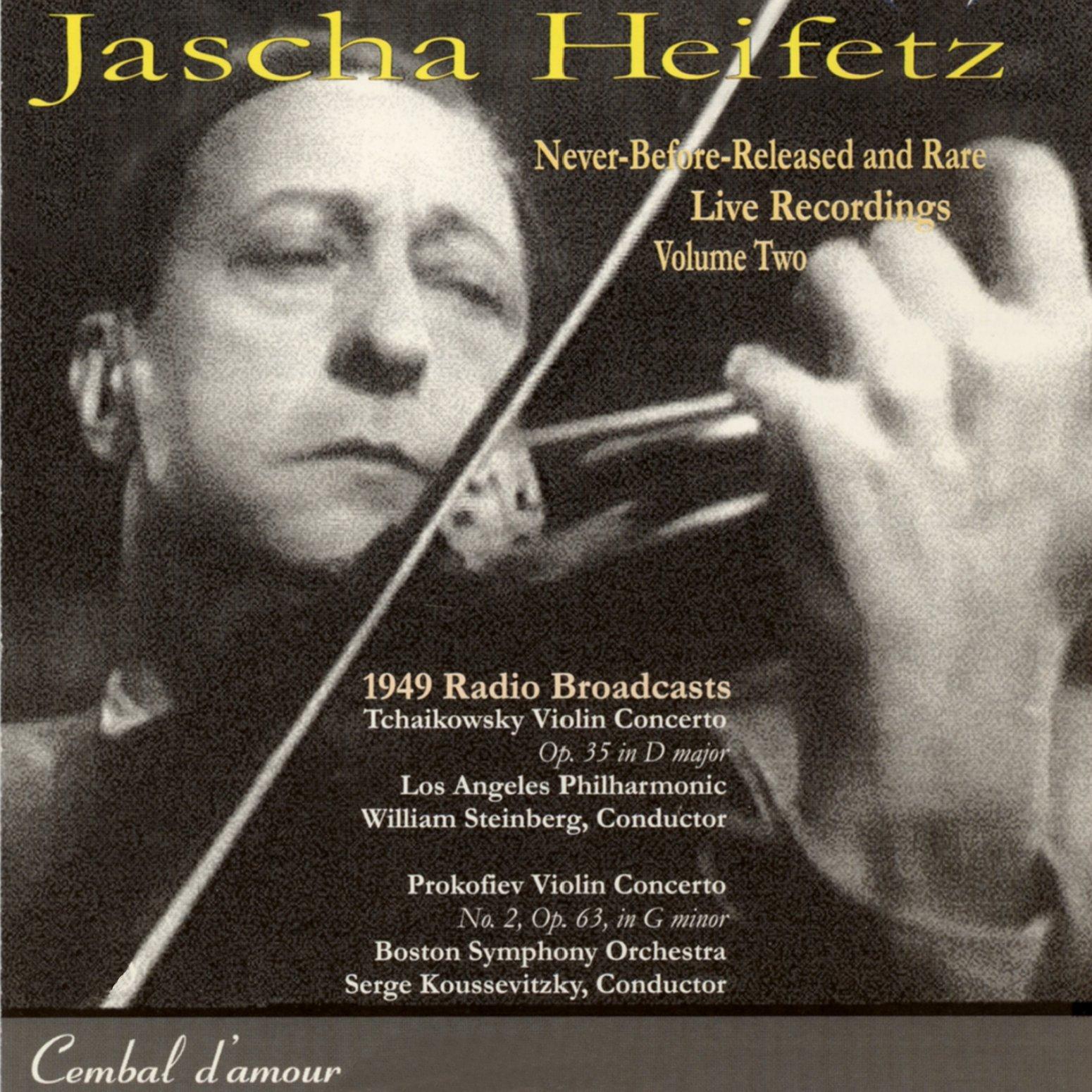 Jascha Heifetz Live, Vol. 2
