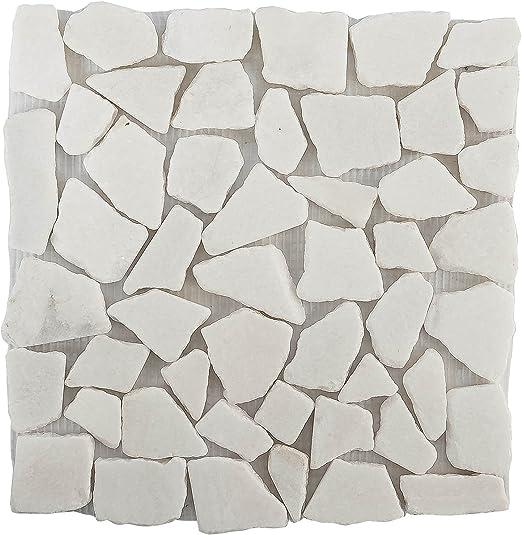 Habita Home LOSETA Piedra Mosaico Blanca 2-4cm/33x33cm Color 1 Color: Amazon.es: Jardín