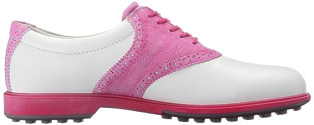 Ecco Womens Classic Golf Hybrid, Damen Golfschuhe, Mehrfarbig (WHITE/CANDY57676), 37 EU