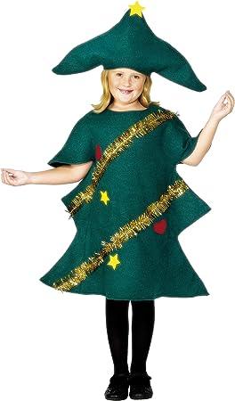 Children Smiffys Disfraz de árbol de Navidad, Verde, con túnica y ...