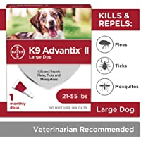 Bayer K9 Advantix II Flea, Tick and Mosquito Prevention for Large Dogs, 21 - 55 lbs