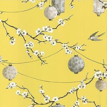 Arthouse Papier peint chinois Jardin Jaune 695401, jaune, Full Roll ...