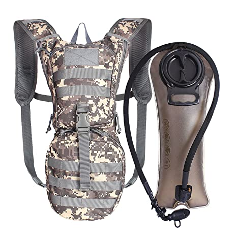 eb2776d45704 Unigear Tactical Hydration Pack Backpack 900D with 2.5L Bladder for Hiking