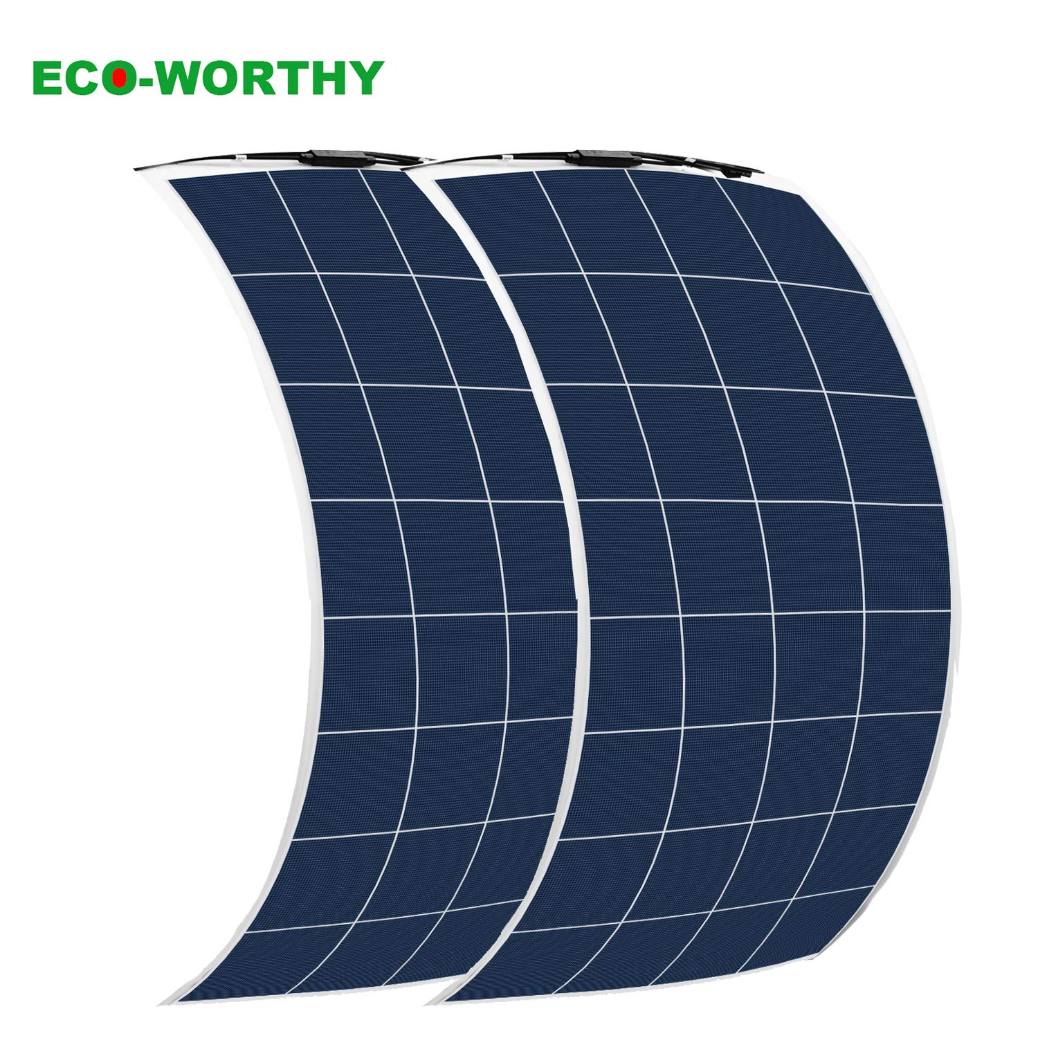 ECO-WORTHY 2Pcs 150W Bendable PV Solar Panel Module for RV, Trucks, Camping(300W Total) by ECO-WORTHY